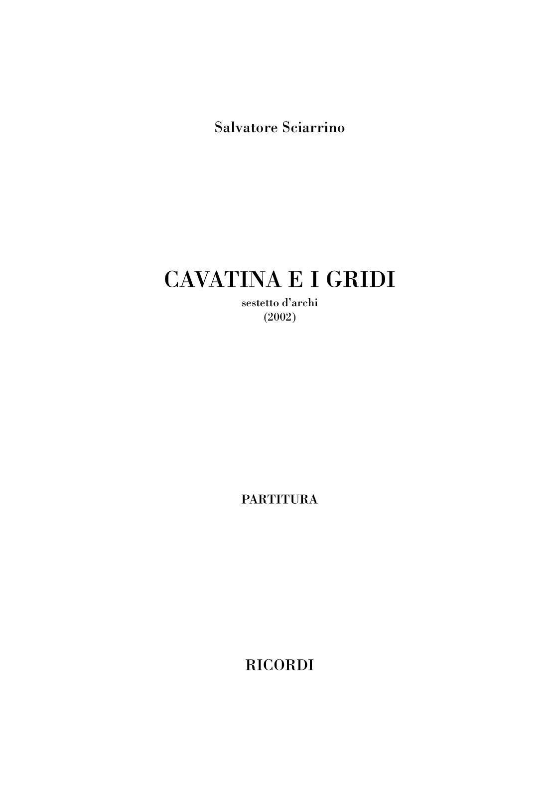 Cavatina e i gridi (flipbook)