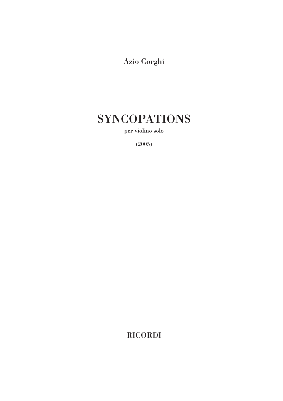 Syncopations (flipbook)