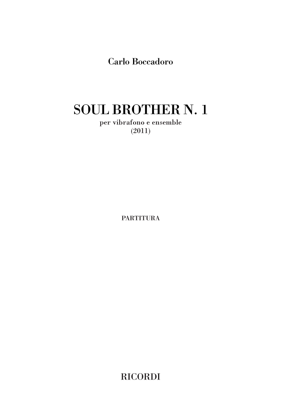 Soul Brother n. 1 (Flipbook)