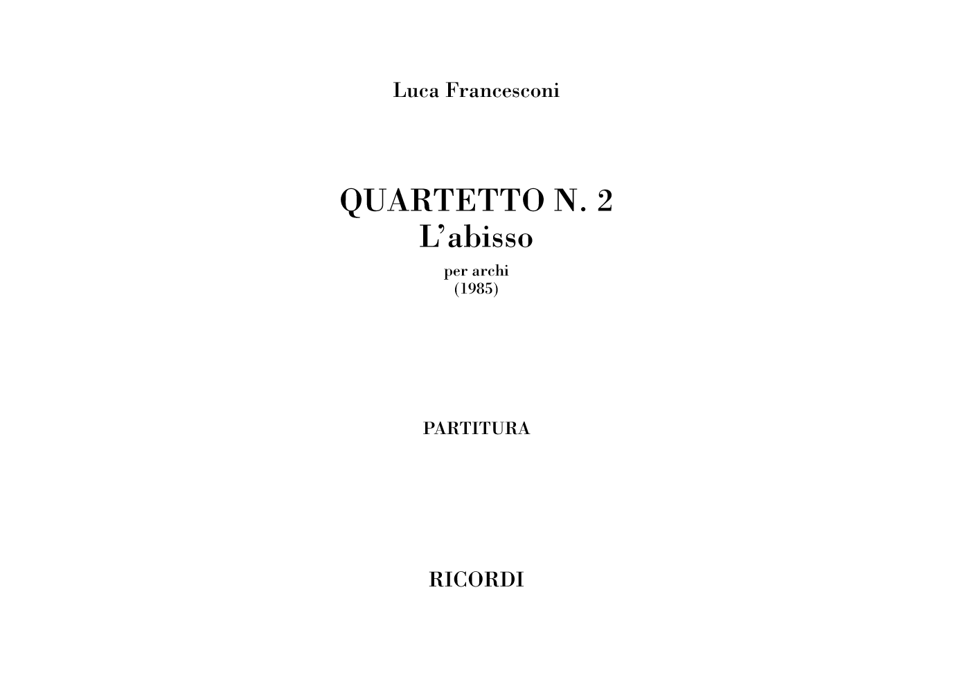 Quartetto n.2. L'abisso (Flipbook)